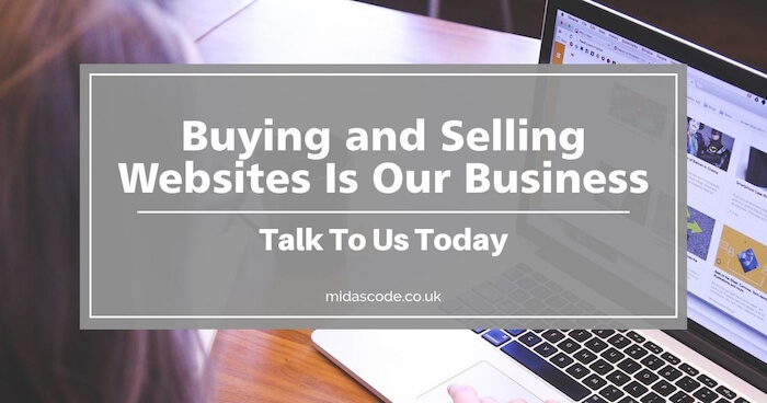 Buy and sell websites with Midascode Ltd